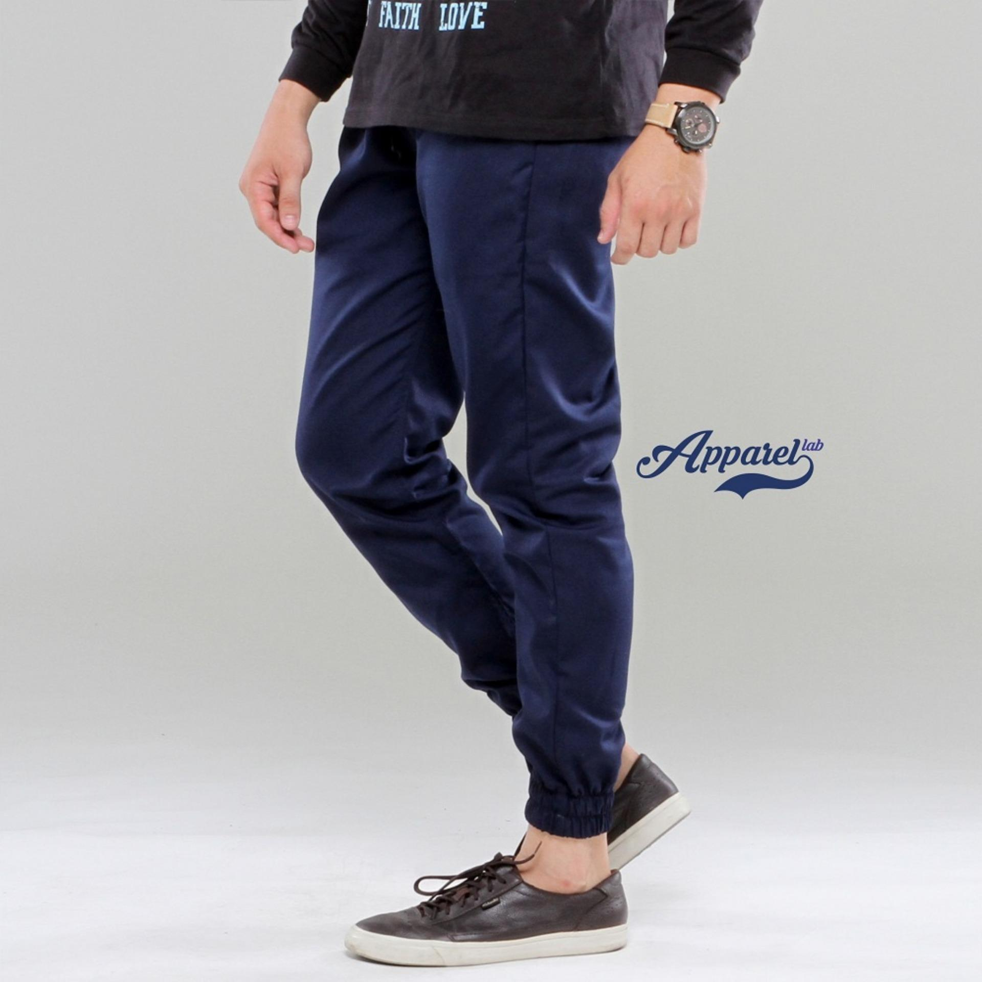 Review Apparel Lab Jogger Basic Navy Blue Di Jawa Barat