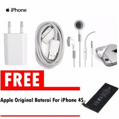 Beli Apple Charger Iphone 4 4S Kabel Data Putih Handsfree Apple Free Apple Original Battery Baterai For Apple Iphone 4S Apple Murah