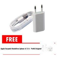 Jual Beli Apple Charger Iphone 5 5C 5S 6 6 Plus Dan Cable Data Lightning Free Apple Earphone Iphone 5 5C 5S Handsfree Headset Putih