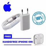 Jual Apple Charger Iphone Original 5 5C 5S 6 6S 6 6Splus Kabel Data Original Handsfree Iphone Original Apple Grosir