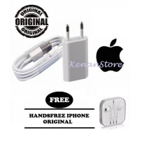 Apple Charger iPhone 5/5c/5s/6/6s/6+/6splus kabel data Original + Handsfree Iphone Original