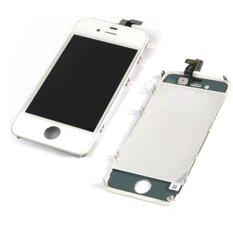 Jual Apple Iphone 4S Lcd Digitizer Replacement Gsm Version White Satu Set