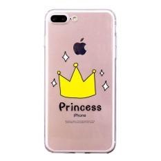Bulan Case untuk Apple iPhone 8 Plus/iPhone 7 Plus Case Lucu Desain Bumper Transparan TPU Lembut Case Karet Pelindung Silikon cover (Seperti Yang Ditunjukkan) -Intl