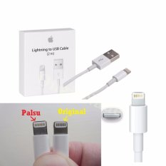 Harga Apple Kabel Data Charger Lightning 2M Usb Kable For Iphone 5 5S 6 6S 6 Plus Putih Fullset Murah