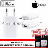 Harga Apple Kepala Charger Adapter For Iphone 4 4S 5 5S 6 Gratis Handsfree Apple Original Asli Apple