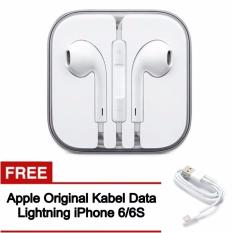 Spesifikasi Apple Original Earphone Handsfree With Mic For Apple Iphone 5 5S 6 Free Apple Lightning For Iphone 6 6S Baru