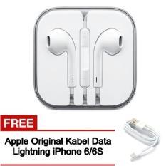 Toko Apple Original Earphone Handsfree With Mic For Apple Iphone 5 5S 6 Free Apple Lightning For Iphone 6 6S Apple