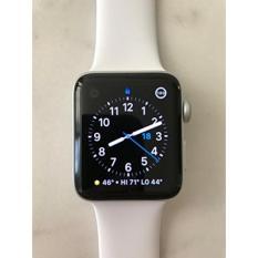 Harga Apple Seri 2 Watch Untuk Iphone 42Mm Silver Aluminium Case Dengan White Sport Band New