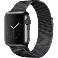 Spesifikasi Apple Watch 42Mm Space Black Stainless Steel Case With Black Milanese Loop Hitam Yg Baik