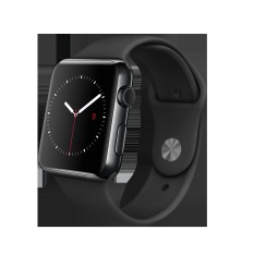 Diskon Apple Watch 42Mm Stainless Steel Case With Black Sport Rubber Band Hitam Apple Di Yogyakarta