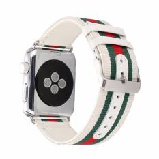 Apple Watch Band 38mm Canvas Sport Series / Tali Jam Tangan Original - Putih
