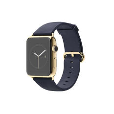 Apple Watch Edition 42Mm 18 Carat Yellow Gold Case With Midnight Blue Classic Buckle Biru Dongker Apple Diskon