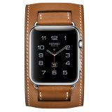 Review Apple Watch Hermes Cuff 42Mm Fauve Barenia Band Jam Tangan Unisex Coklat Apple