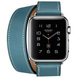 Apple Watch Hermes Double Tour 38Mm Bleu Jean Band Jam Tangan Unisex Biru Apple Diskon 50
