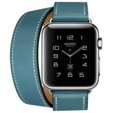 Ulasan Tentang Apple Watch Hermes Double Tour 38Mm Bleu Jean Band Jam Tangan Unisex Biru