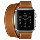 Beli Apple Watch Hermes Double Tour 38Mm Fauve Barenia Band Jam Tangan Unisex Coklat Online Terpercaya