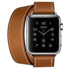 Harga Apple Watch Hermes Double Tour 38Mm Fauve Barenia Band Jam Tangan Unisex Coklat Di North Sumatra