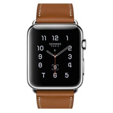 Toko Apple Watch Hermes Single Tour 42Mm Fauve Barenia Band Jam Tangan Unisex Coklat Apple Online