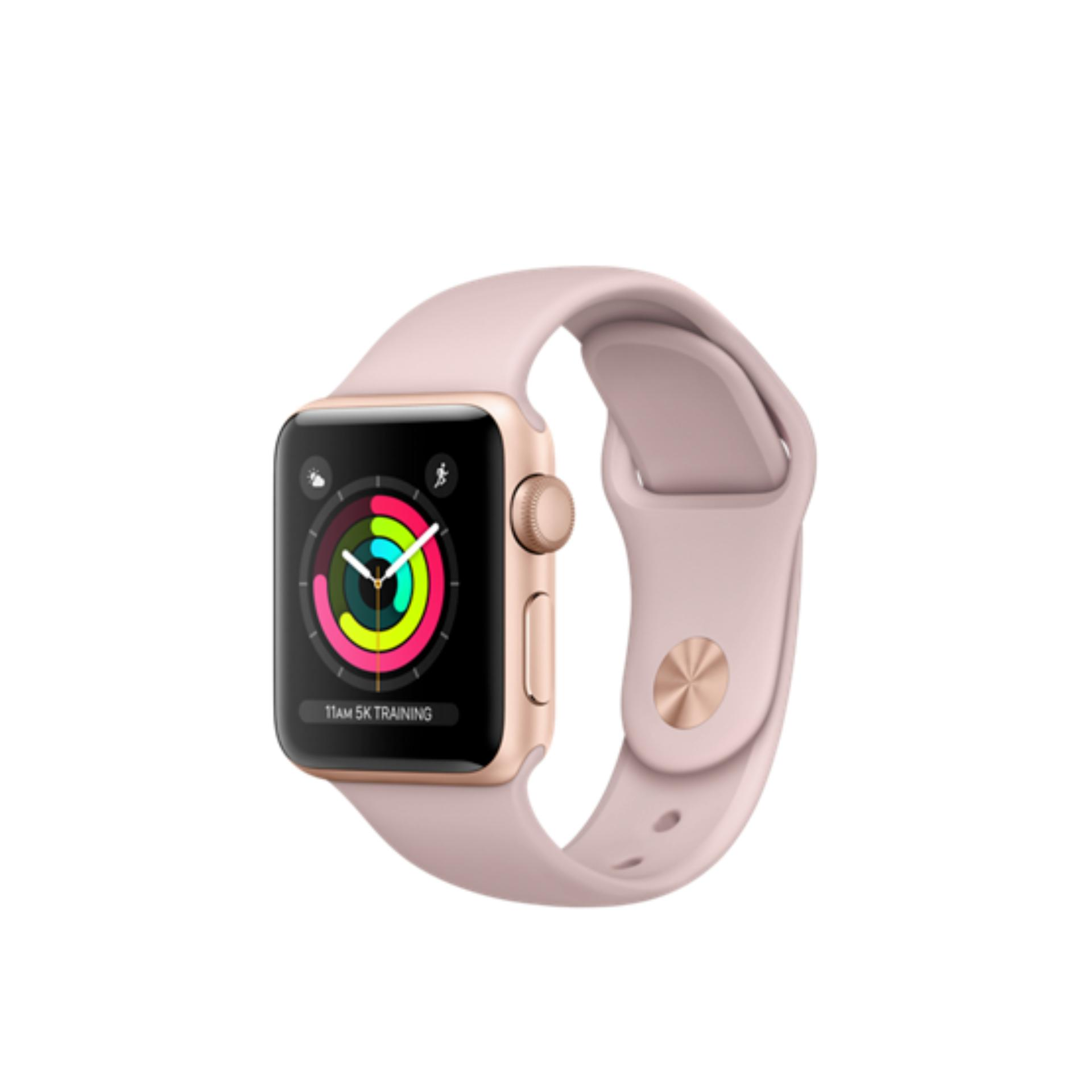 Jual Apple Watch Series 3 Gps 38Mm Gold Alum With Pink Sand Sport Band Murah