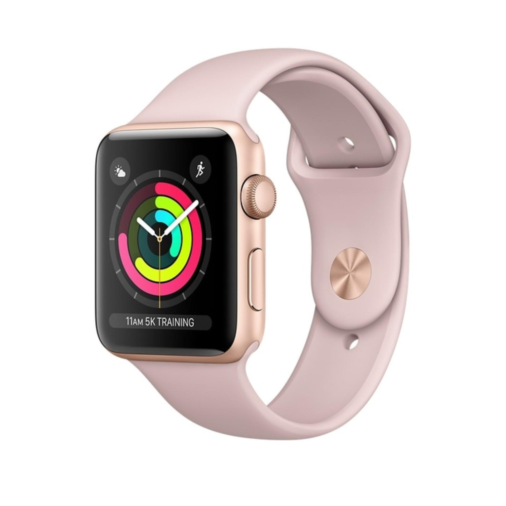 Apple Watch Series 3 GPS 42mm Gold Alum With Pink Sand Sport Band