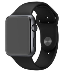 Toko Apple Watch Space Gray Sport Edition Alumunium 42Mm Black Silicon Strap Termurah