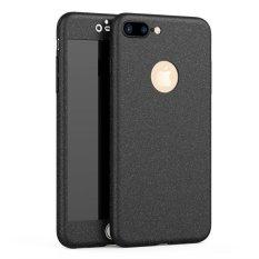 Applefor Iphone7 PLUS Versi Upgrade Mewah Ultra Tipis 360 Derajat Cakupan Pasir Terasa Frosted Matte Case untuk Apple untuk Iphone7 PLUS Full Body Cover Kasus Telepon (Warna: Seperti Gambar Pertama)-Intl
