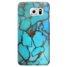 Aqua Turquoise Gemstone Graphic Printed Case Cover For Samsung Galaxy S6 Edge