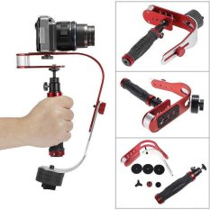 Arcuate SLR DV Video Handheld Camera Stabilizer Camera Shock Absorber Video Surveillance Stand (Red) - intl