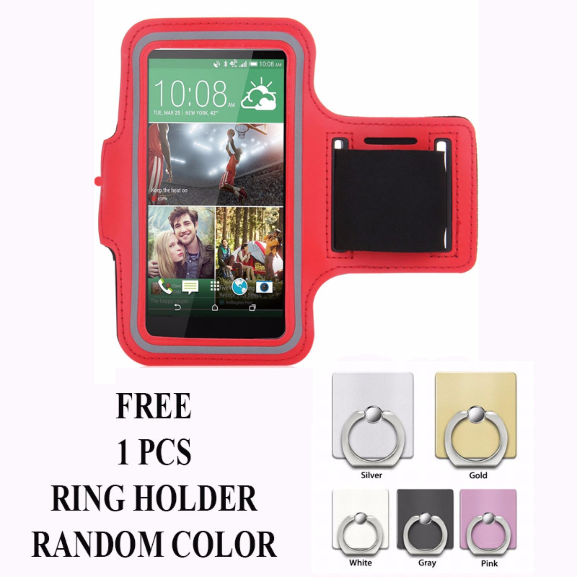 Armband Untuk Samsung Galaxy J2 Prime Free Ring Holder Merah Asli