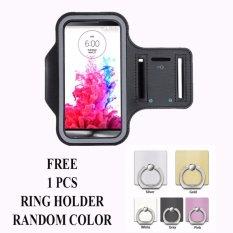 Armband untuk Samsung Galaxy On5 Pro + free Ring Holder - Hitam