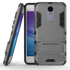 Armor 2 in 1 PC and TPU Soft Gasbag Stand Back Case Cover For Huawei Enjoy 6 Case Gray - intl
