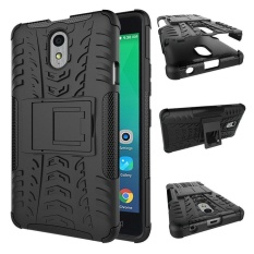Armor Desain dengan Stand Fitur Detachable Dual Layer Pelindung Shell Phone Hard Back Case Cover untuk Lenovo VIBE P1m