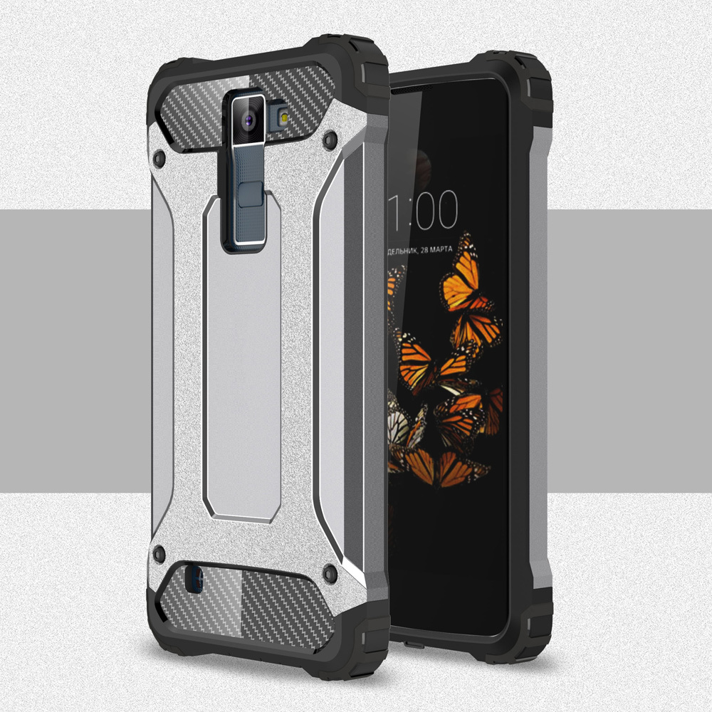 Armor GUARD Plastik + TPU Hibrida Case Shell untuk LG K8 (Grey)-Intl