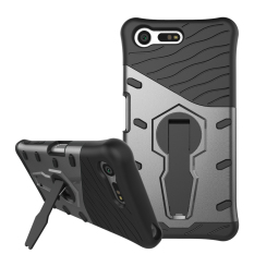 Armor PC + TPU Hybrid Kickstand Cover for Sony Xperia X Compact - Grey - intl