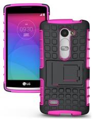 Armor Perlindungan 2in1 [Lembut TPU dan Keras PC] Stan Fungsi Casing Ponsel untuk LG Leon 4g C40 LTE H340N-Intl