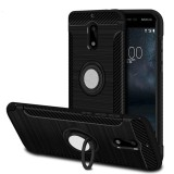 Jual Armor Rugged Nokia 3 Slim Tpu Soft Case Carbon Design Ring Stand Grosir