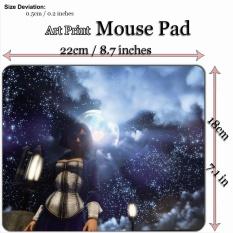 Art Print Game Mouse Pad Mat (22*18 Cm) untuk WG406 BioShock Infinite Elizabeth dan Langit Berbintang-Intl