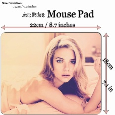 Art Print Mouse Pad Mat (22*18cm) for Celebrity 712C Scarlett Johansson - Re Design