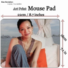 Art Print Mouse Pad Mat (22*18cm) for Celebrity C116 Shu Qi on a beach