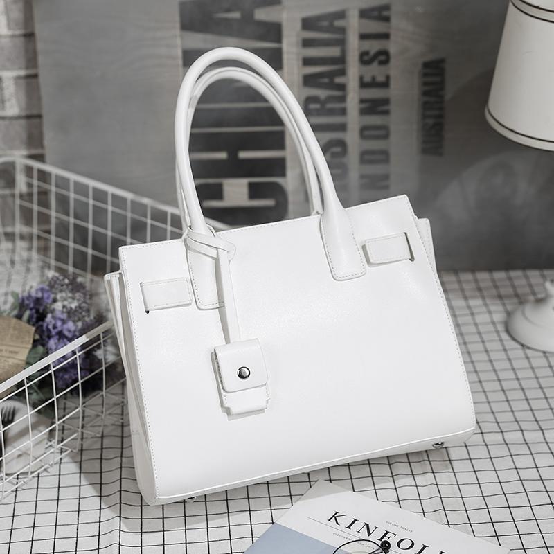Tas Besar Sama Model dengan Artis Tas Model Hermes Sederhana Bahu (Putih ritsleting versi)