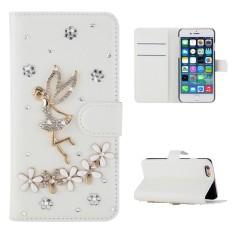 Karena Saat Case untuk Alcatel Pixi 4 5.5 5012G 5012 Mewah 3D Bling Malaikat Bunga Berlian Rhinestones Pu Kulit dompet Case-Internasional