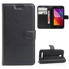 Sebagai Kecantikan PENUTUP UNTUK Asus Zenfone Go ZC451TG 4.5 Kulit PU Inci Flip Case Berdiri Pelind