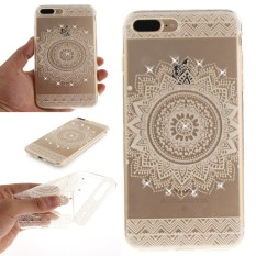 Karena Saat Case untuk iPhone 7 Plus/Iphone 8 Plusbling Berlian Buatan Lembut TPU Anti Gores Pelindung Sarung- internasional