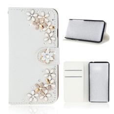 Karena Saat Case untuk Samsung Galaksi C9 Pro Mewah 3D Bling PU Kulit Dompet Case Lipat Berdiri Kartu Slot -Internasional