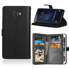 Karena Saat Case Anda Samsung Galaksi C9 Pro Pu Kulit Dompet Case Lipat Penyangga Sarung With 9 Slo