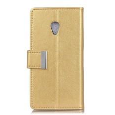 Karena Saat Telepon Case, untuk Alcatel U5 (4G) PU Kulit Case Lipat Penyangga Sarung dengan Slot Kartu dan Logam Penutupan Magnetik-Internasional