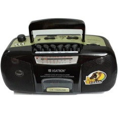 Asatron Portable Radio Kaset Tape Usb Mp3 Mmc Asatron Cr 1568 9 Hitam Indonesia Diskon 50
