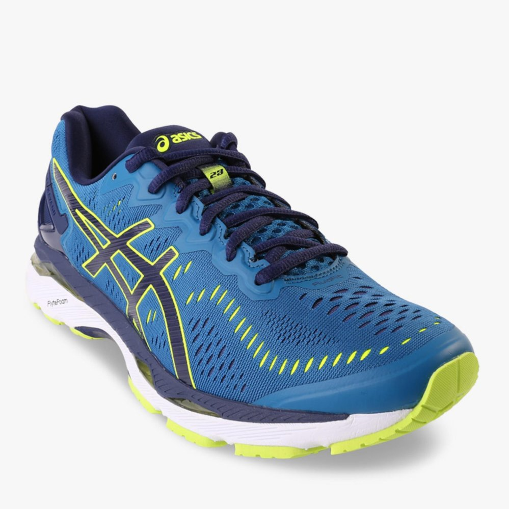 Review Asics Gel Kayano 23 2E Men S Running Shoes Biru Asics
