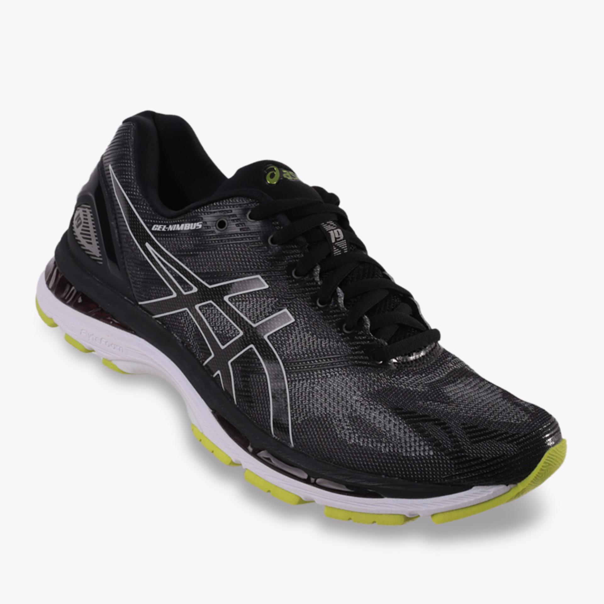 Asics Gel Nimbus 19 Men S Running Shoes Standard Wide Hitam Diskon Indonesia