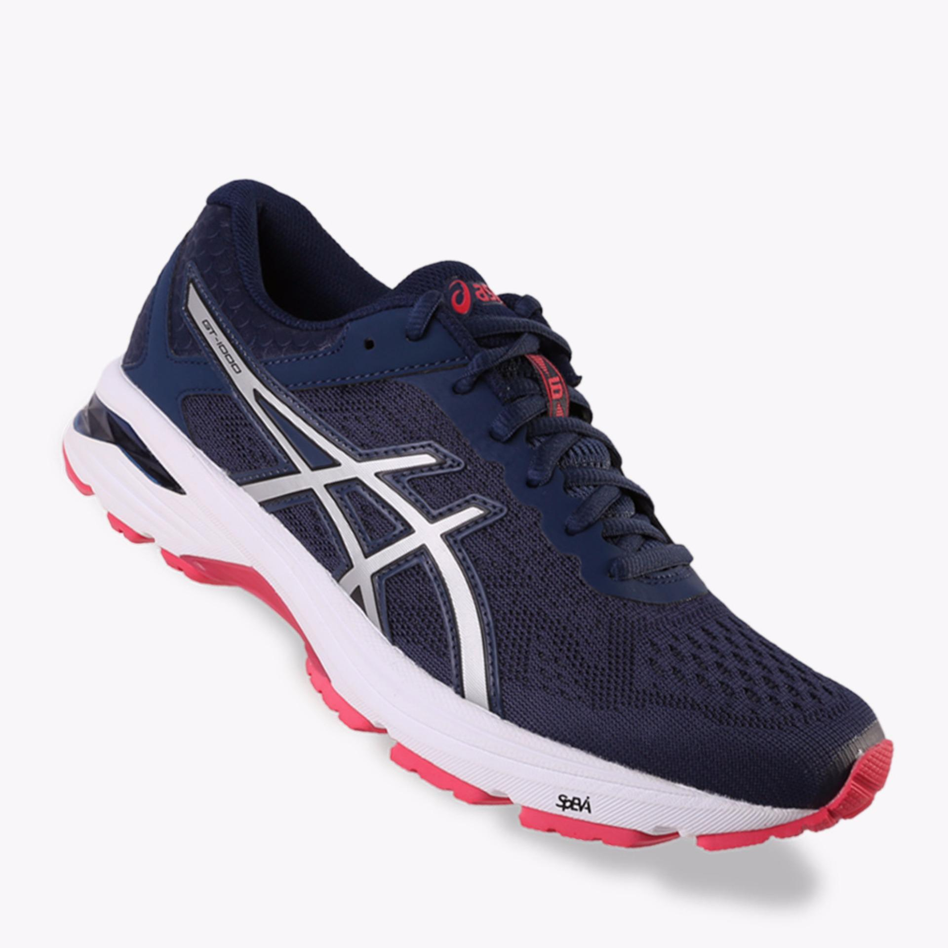 Beli Asics Gt 1000 6 Women S Running Shoes Standard Wide Navy Murah Di Indonesia